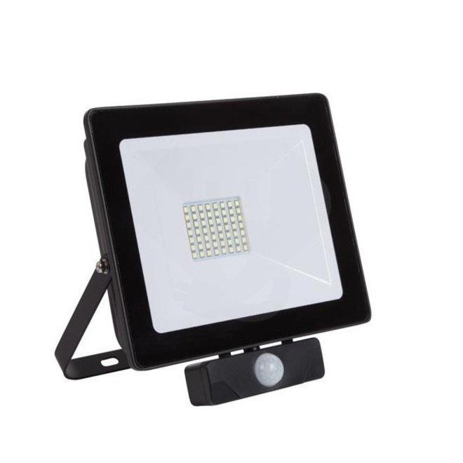 100W LED Bouwlamp met Sensor Zwart