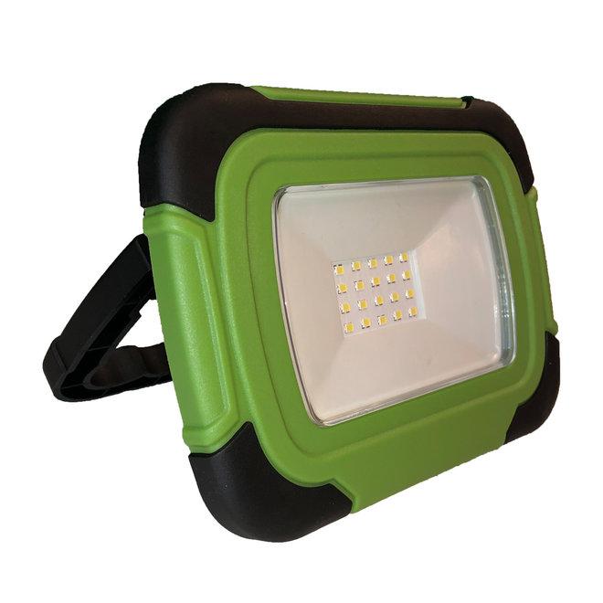 10W LED bouwlamp / campinglamp met accu - usb aansluiting - waterdicht