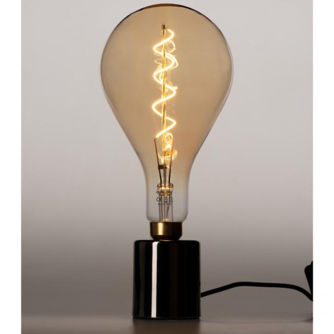 XXL Megaglobe LED 30 cm - PS160 Filament lamp Smokey - E27 Giant Dimbaar 6W - Oversized Giant Spiral Bulb