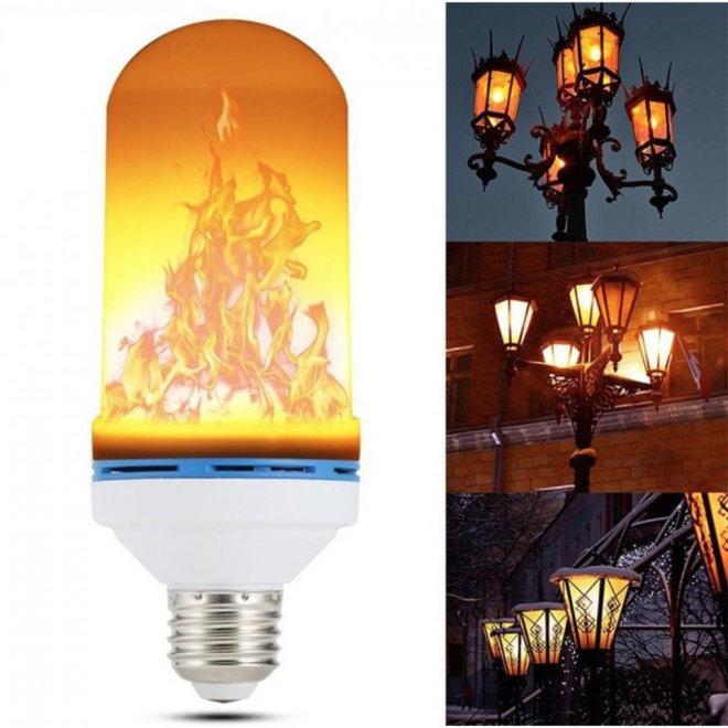 LED Vlam Lamp - Flame effect - Vlameffect met drie standen - Met Zwaartekrachtsensor
