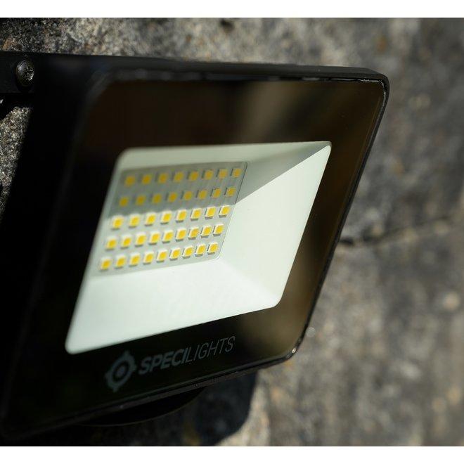 10W LED Bouwlamp Zwart - 1000 Lumen - 6000K - Waterdicht IP65 - 5 jaar garantie