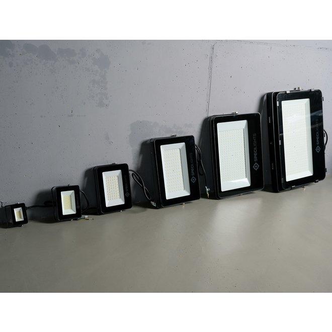 50W LED Bouwlamp Zwart - Waterdicht IP65 - 5 jaar garantie - 4000K