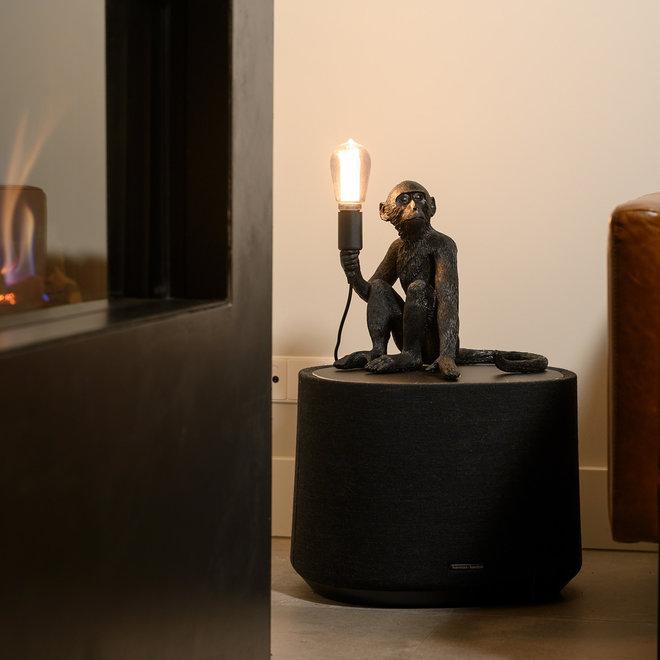 Tafellamp Aap - Zwarte Aaplamp - Monkey Lamp Zittend