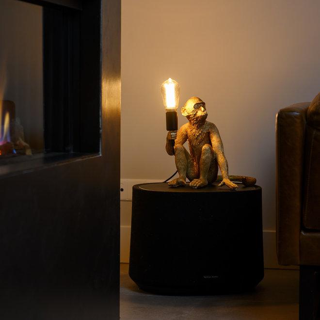 Tafellamp Aap - Gouden Aaplamp - Monkey Lamp Zittend