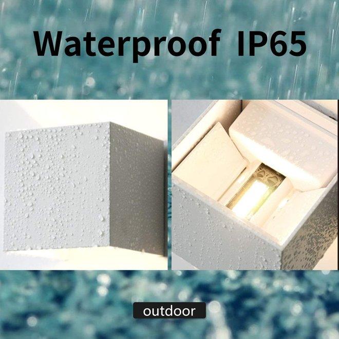 LED wandlamp wit 12W - Waterdicht met instelbare stralingshoek - Muurlamp IP65 3000K