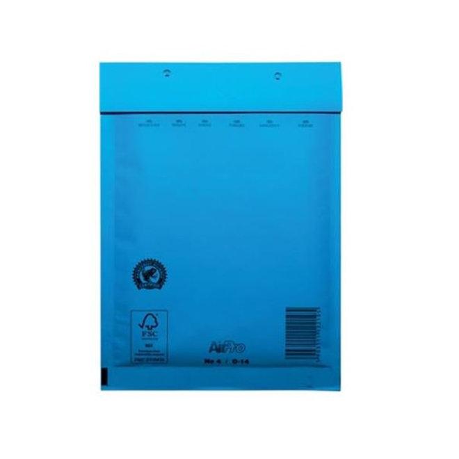 Blauwe luchtkussen enveloppen D 180 x 265 mm A5+ Blauw Gekleurd  - Doos met 100 enveloppen