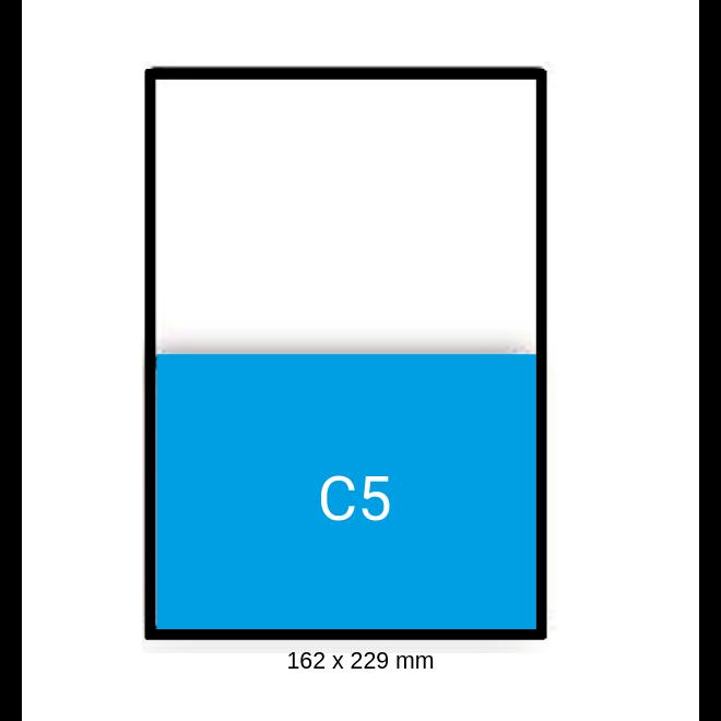 Witte envelop C5 162 x 229 mm venster links doos 500 stuks