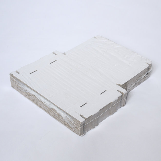 Brievenbusdoos golfkarton E-golf 370 x 260 x 30 mm XL Wit - Bundel met 50 postdozen
