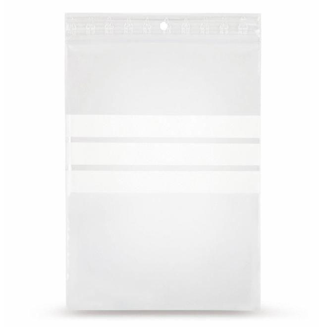 Gripzakje 100 x 150 mm met schrijfvlak en druksluiting doos 1000 stuks