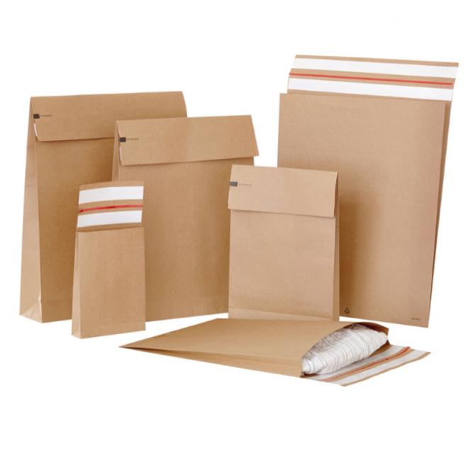 Specipack Kraft Verzendzak- Green E-commerce Blokbodem Mailer - 400 x 500 x 100 mm - 120 g/m2 - Dubbele Kleefstrip - Doos 100 enveloppen
