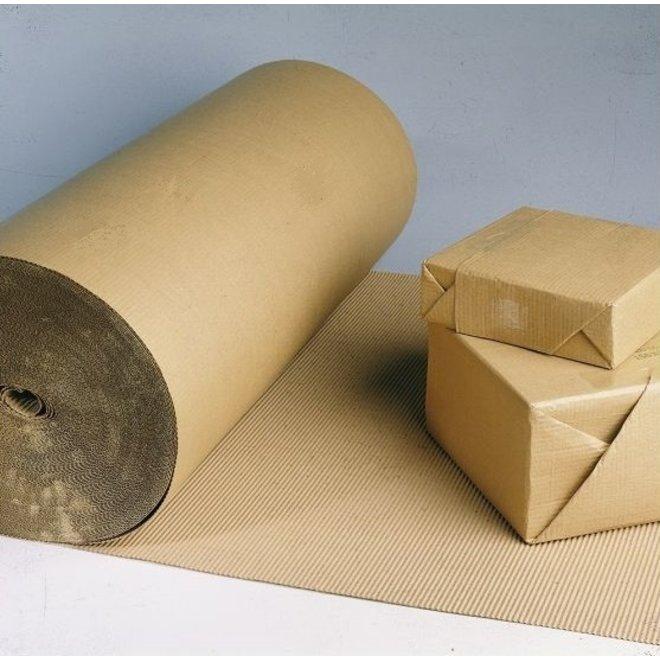 Golfkarton rol met ril - 100 cm x 70 m - Zware kwaliteit 185 gram/m2