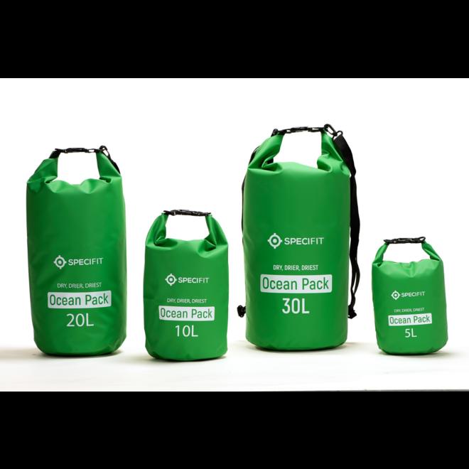 Specifit Ocean Pack 30 Liter - Drybag - Waterdichte Tas - Droogtas Groen
