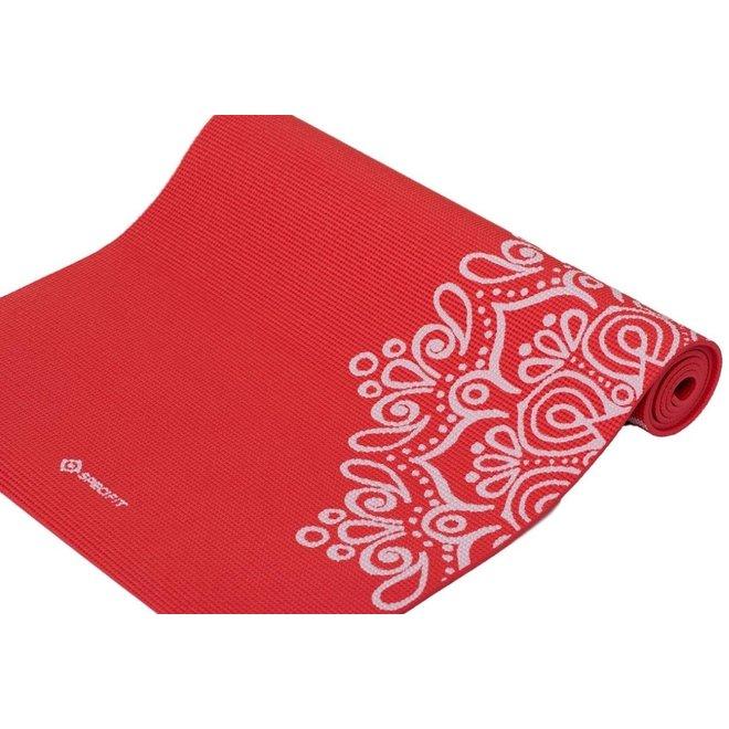 Specifit Yogamat Marrakech Rood - Fitnessmat 170 x 60 cm met Opdruk