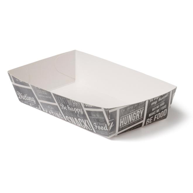 Snackbakje karton A14 - Pubchalk 155 x 85 x 38 mm