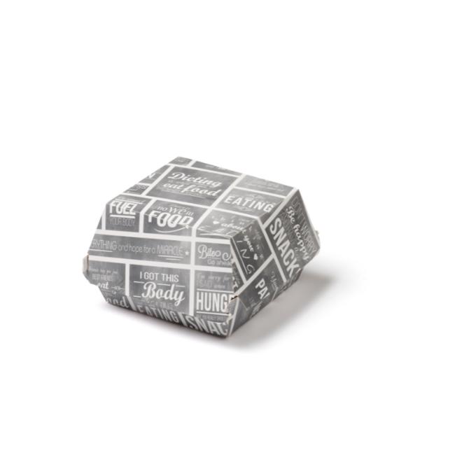 Hamburgerbakje karton medium - Pubchalk 115 x 115 x 70 mm
