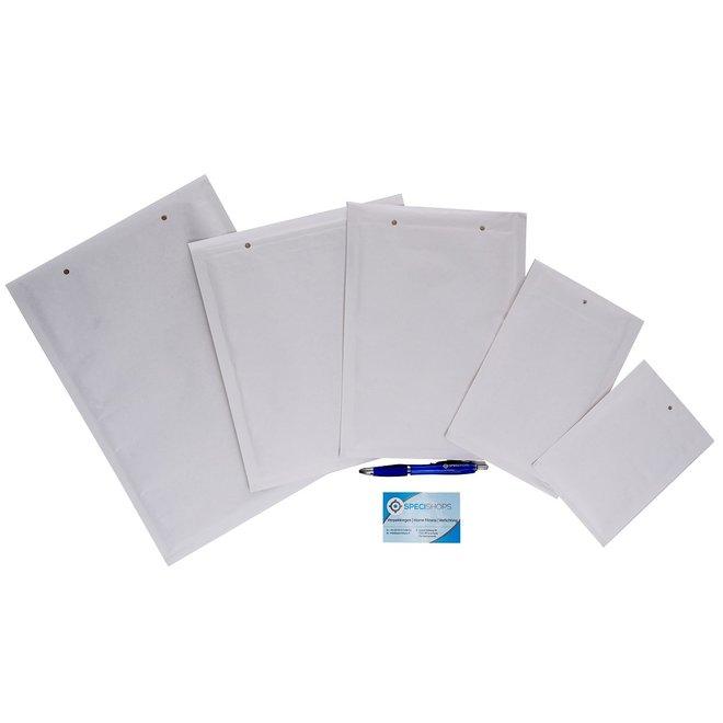 Luchtkussen enveloppen E - Bubbelenveloppen 220 x 265 mm  - Doos met 100 enveloppen