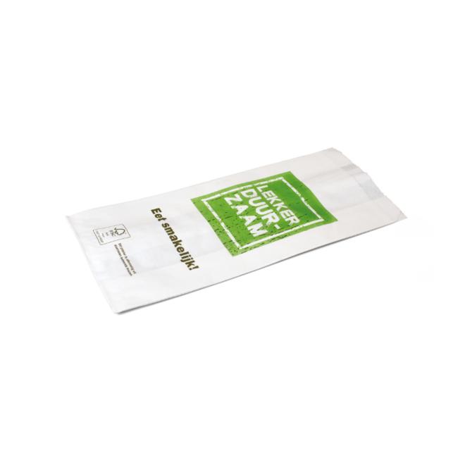 Snackzak Lekker Duurzaam - Snack zakje 330 x 130 mm - 1 pond met perforatie nr 27