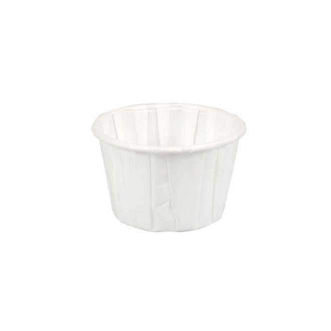 Portiecup papier wit - Sausbakje 55 ml