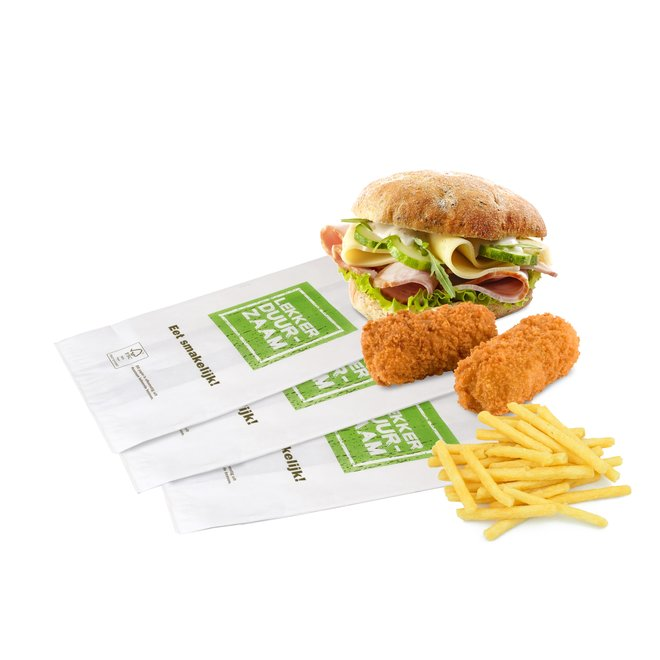 Snackzak Lekker Duurzaam - Snack zakje 390 x 160 mm - 3 pond nr 29