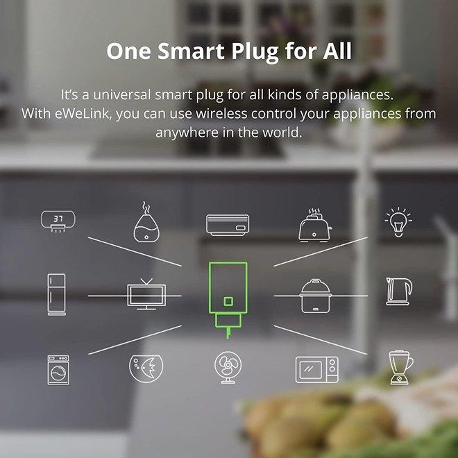 Slimme stekker - Smart plug - Wifi 16W - Bediening via App - Werkt met Alexa/Google Home - Geen Hub nodig
