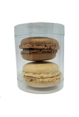 Tube for 2 macarons or 1 mini cupcake (100 pieces)