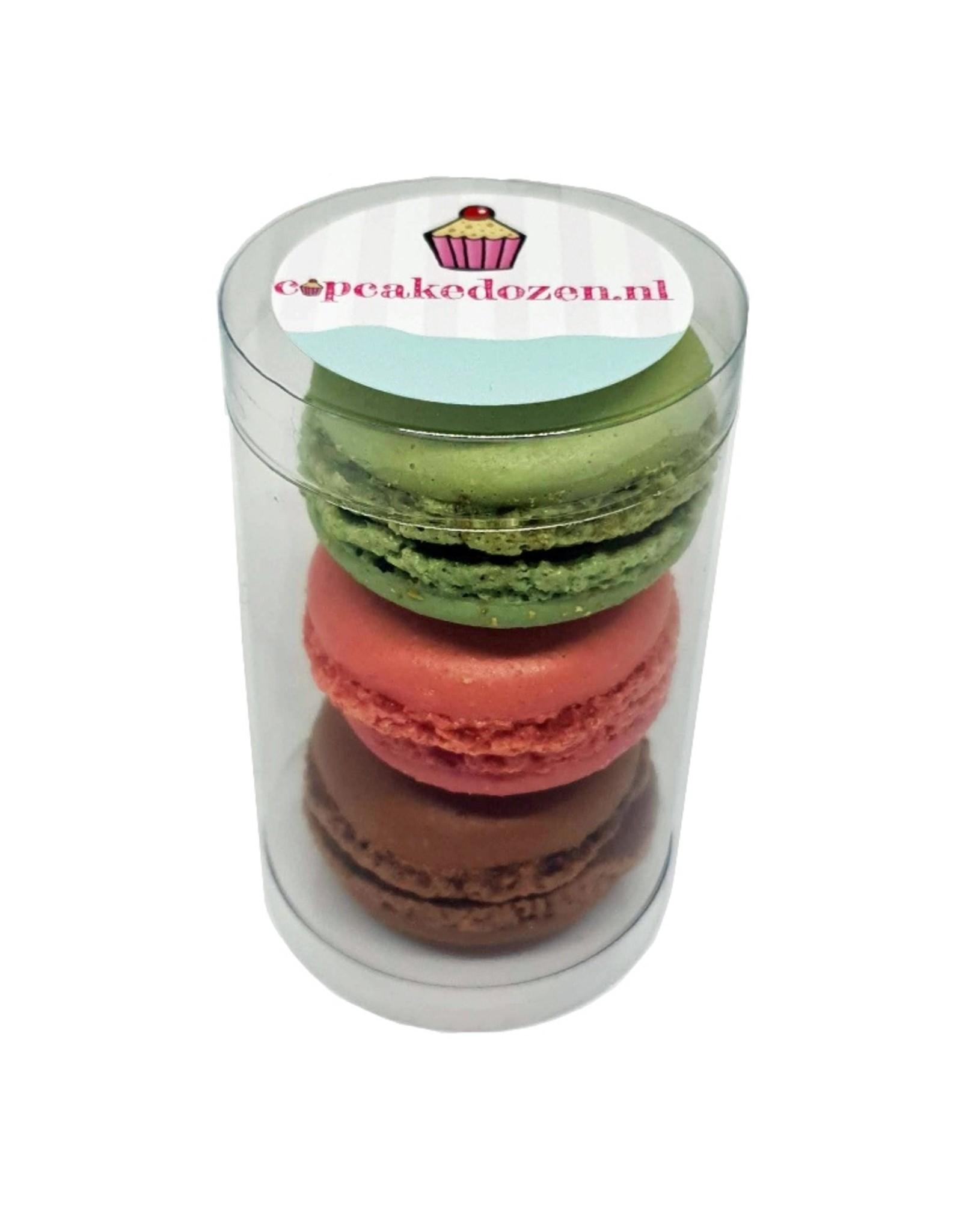 Koker voor 3 macarons of 1 minicupcake (100 stuks)