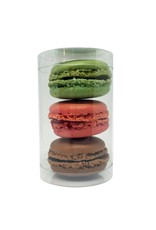 Tube for 3 macarons or 1 mini cupcake (100 pieces)