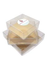 Transparante doos vierkant - diverse maten (per 100 stuks)