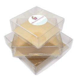 Transparante doos vierkant (100 st.)