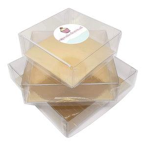 Clear square box (100 pcs.)