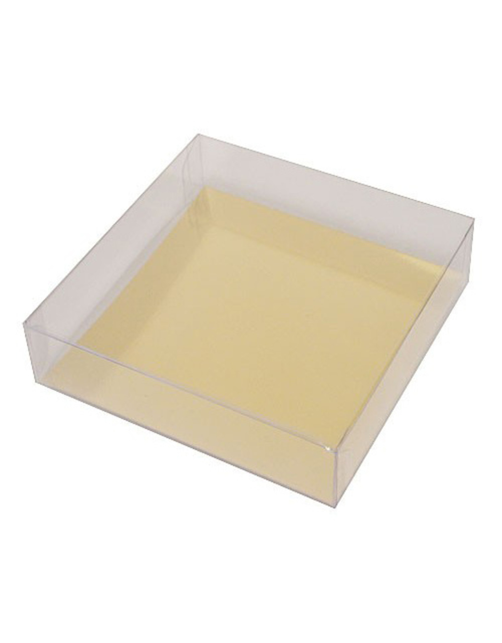 Square transparent box in different sizes (per 100 pieces)