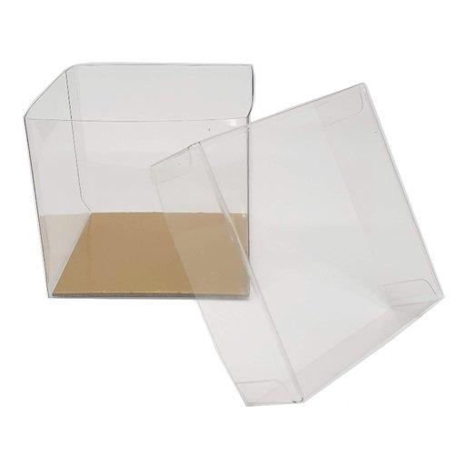 Transparante kubus voor 1 cupcake (per 100 stuks)