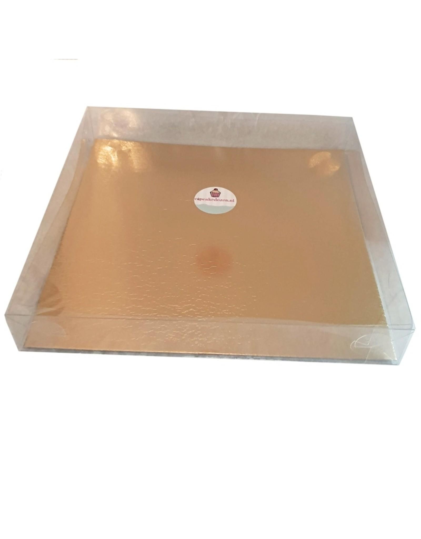 Transparante doos - 29,5 x 29,5 x 4,5-6 cm (per 100 stuks)