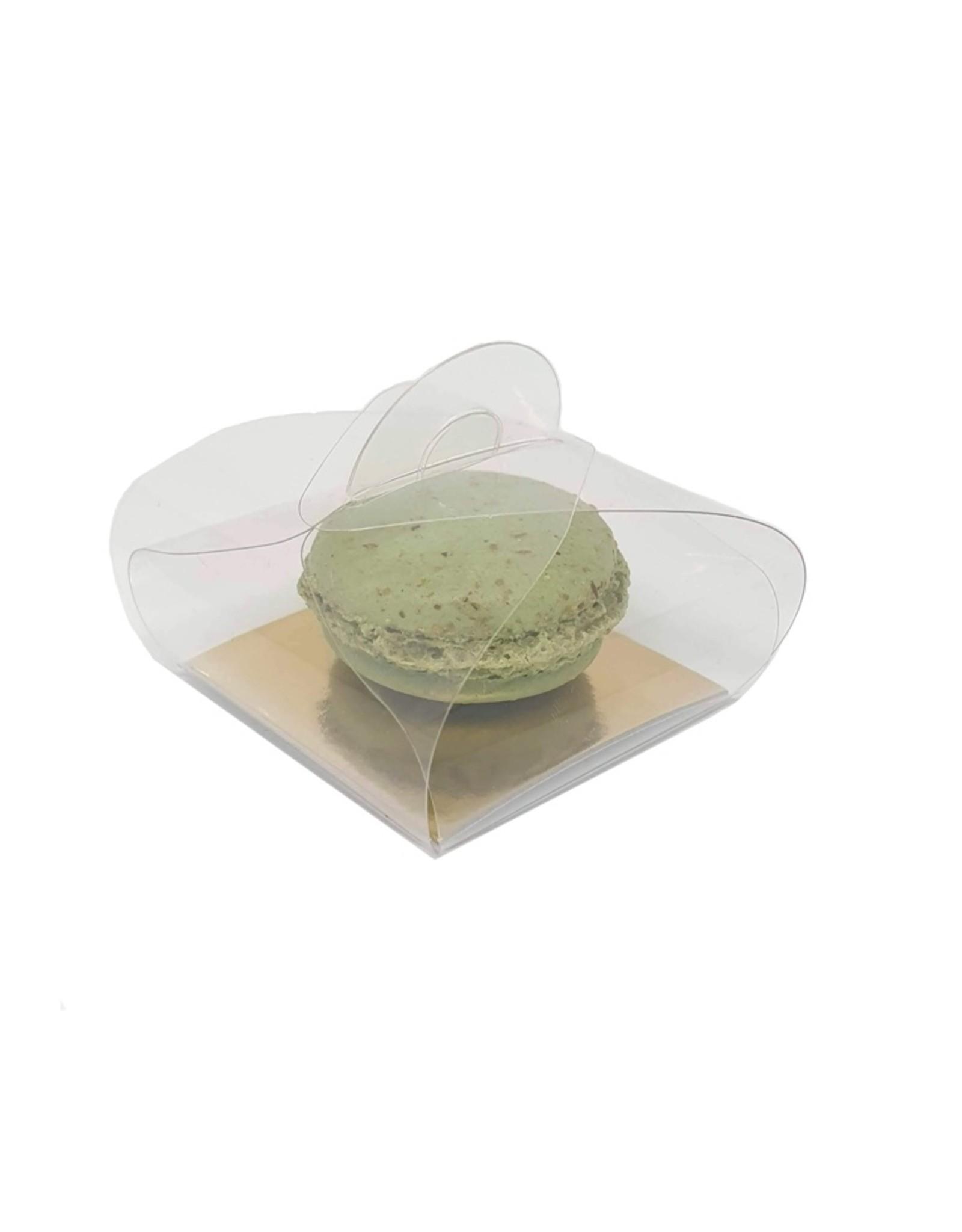 Transparante bundel voor 1 macaron (per 100 stuks)
