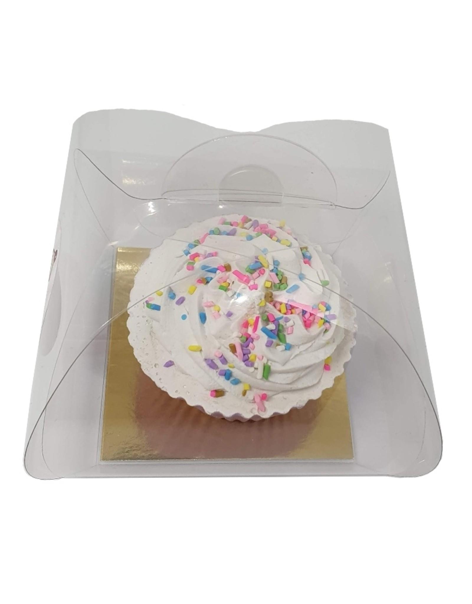 Transparante bundel voor 1 cupcake (per 100 stuks)