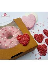 Biologisch kraft doosje voor 1 donut, brownies, macarons, chocolade, etc.  (per 250 stuks)