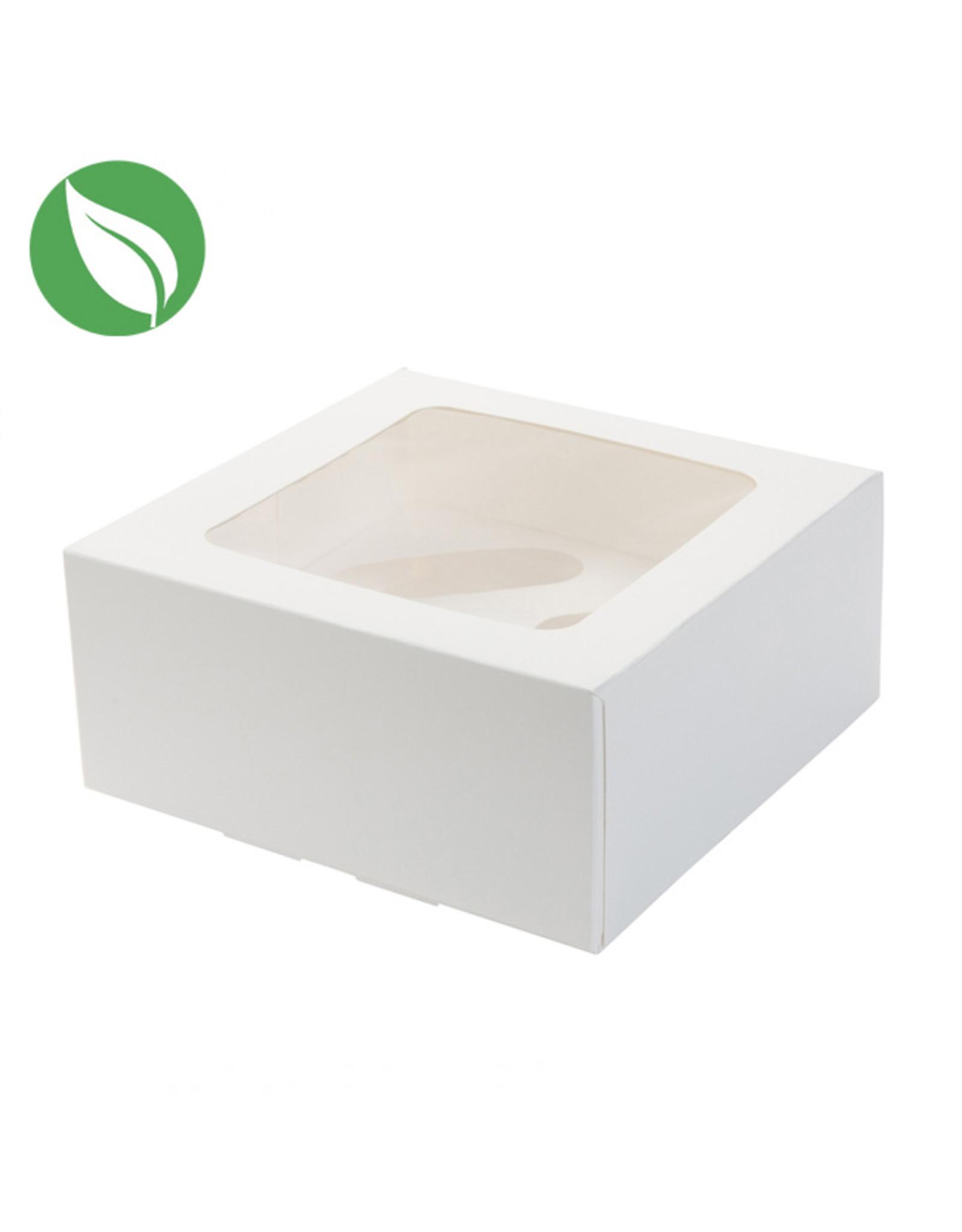 Biodegradable box for 4 (mini) cupcakes (per 25 pieces)