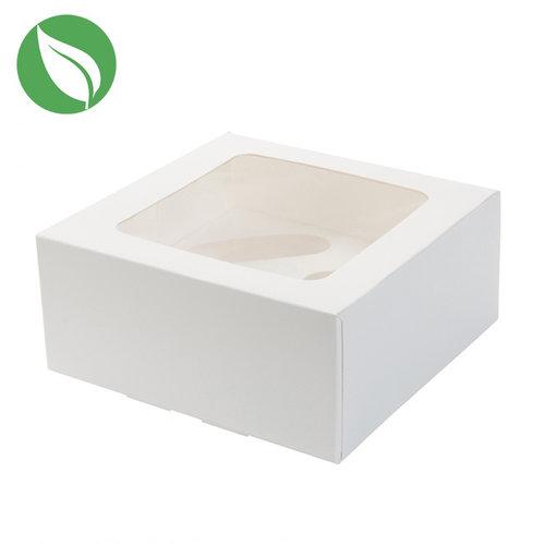 Biologische doos voor 4 cupcakes / minicupcakes (per 25 stuks)