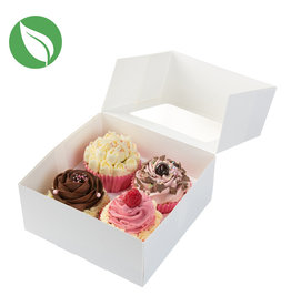 Biodegradable box for 4 (mini) cupcakes (25 pcs.)