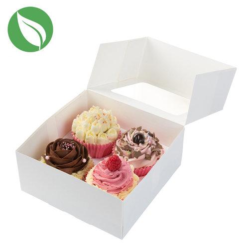 Biodegradable box for 4 (mini) cupcakes (25 pcs.)