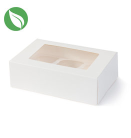 Biodegradable box for 6 (mini) cupcakes (25 pcs.)