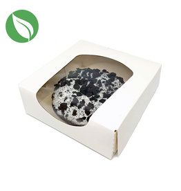 Biodegradable white box for 1 donut (250 pcs.)