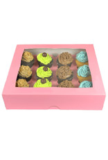 Pink box for 12 cupcakes (25 pieces)