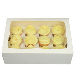 White box for 12 mini cupcakes (25 pcs.)