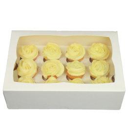 Witte doos voor 12 minicupcakes (25 st.)