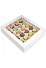 White box for 24 mini cupcakes (per 25 pieces)