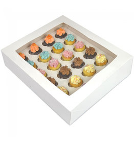 Witte doos voor 24 minicupcakes (25 st.)