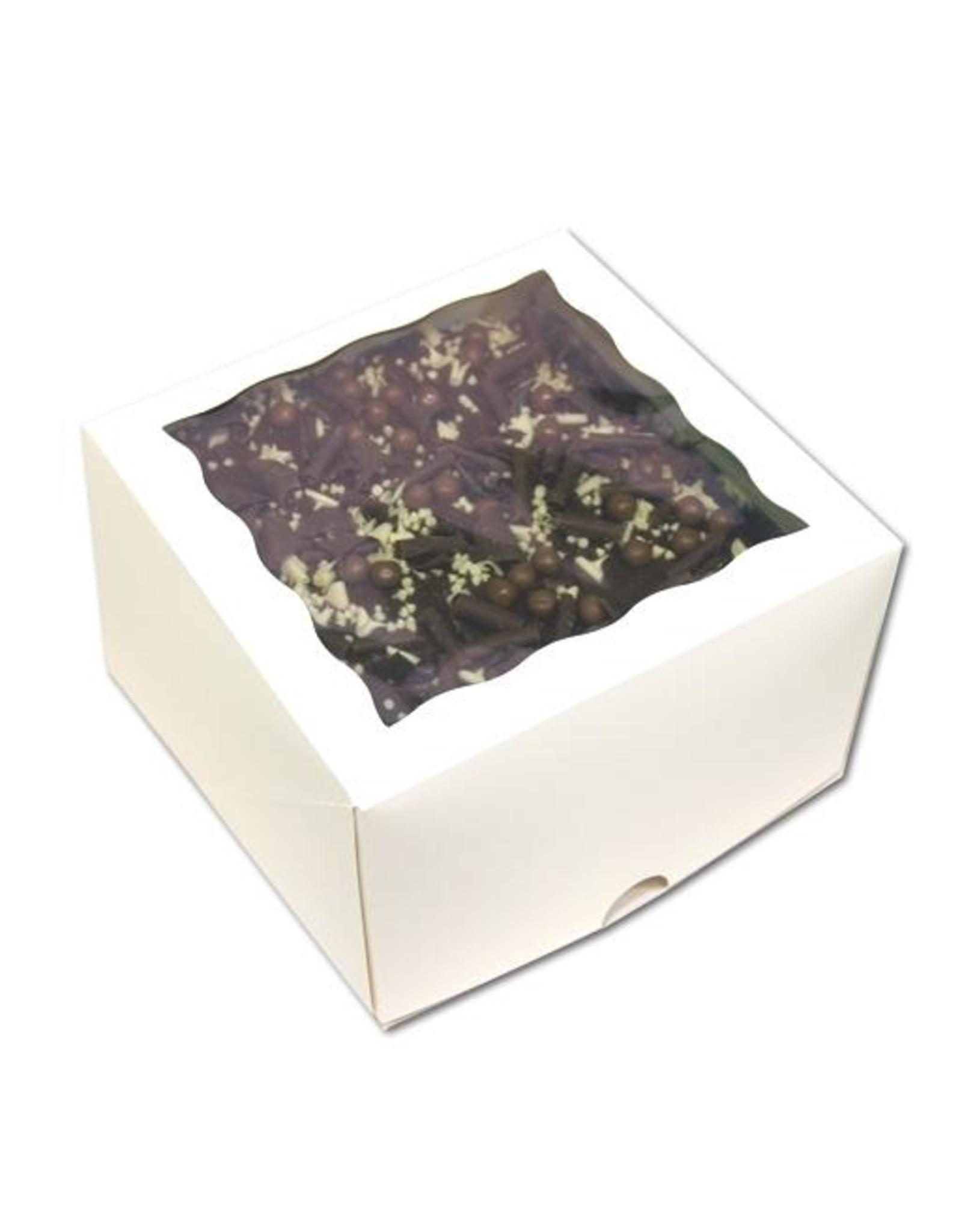 Witte taartdoos met venster - 31x31x15 (per 25 stuks)