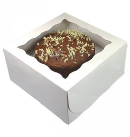 White window cake box - 31x31x15 (25 pcs.)