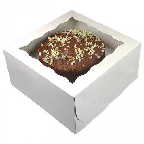 White window cake box - 31x31x15 (25 pcs.)